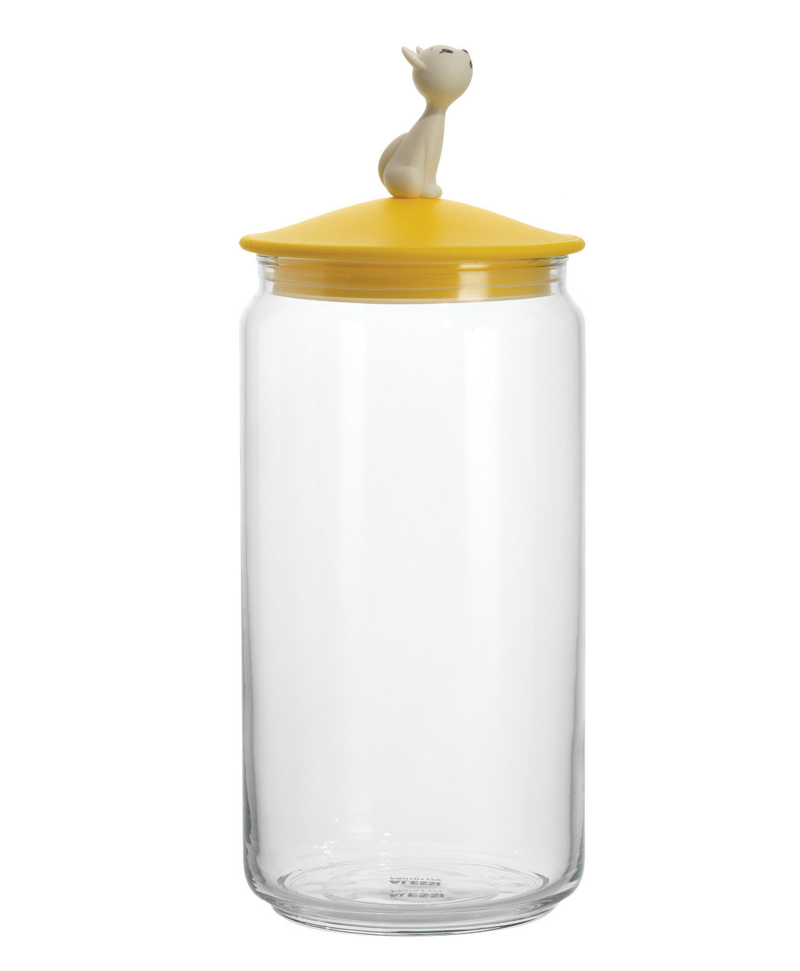 Tableware - Boxes and jars - MiòJar Airtight jar by A di Alessi - Yellow - Glass, Thermoplastic resin