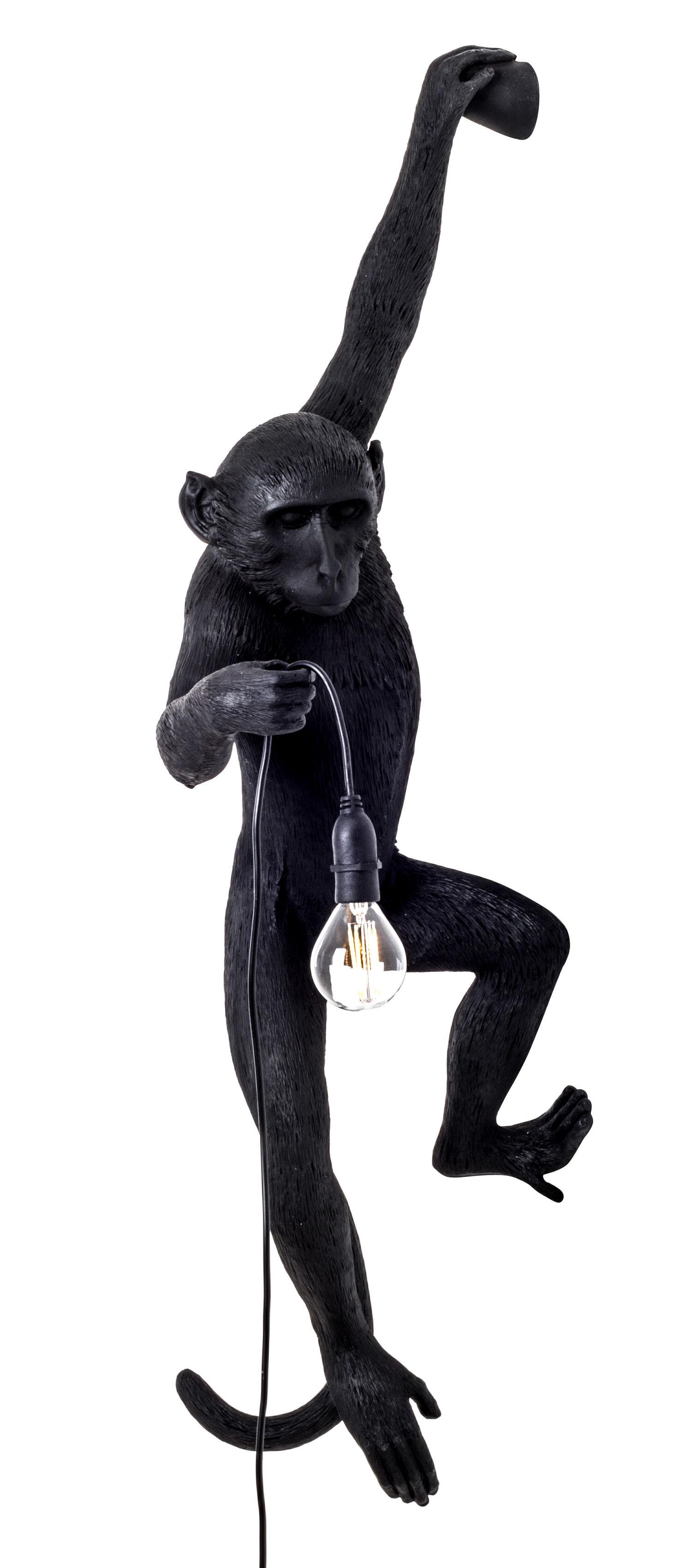Illuminazione - Lampade da parete - Applique Monkey Hanging / Outdoor - H 76,5 cm - Nero - Resina