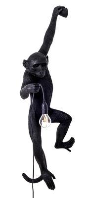 Luminaire - Appliques - Applique d'extérieur Monkey Hanging / H 76,5 cm - Seletti - Noir / Suspendu à gauche - Résine