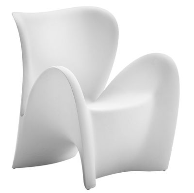 Furniture - Armchairs - Lily Armchair - Indoor & outdoor - Matt by MyYour - White - Plastic material