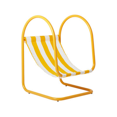 Outdoor - Sun Loungers & Hammocks - Para(D) Armchair by Axel Chay - Yellow & white - Acrylic cloth, Powder coated steel