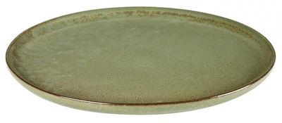 Assiette Surface / Ø 27 cm - By Sergio Herman - Serax vert en céramique
