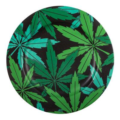 Assiette Weed / Porcelaine - Ø 27 cm - Seletti vert en céramique