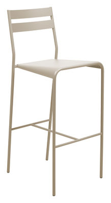 Furniture - Bar Stools - Facto Bar chair - H 75 cm - Metal by Fermob - Nutmeg - Lacquered steel