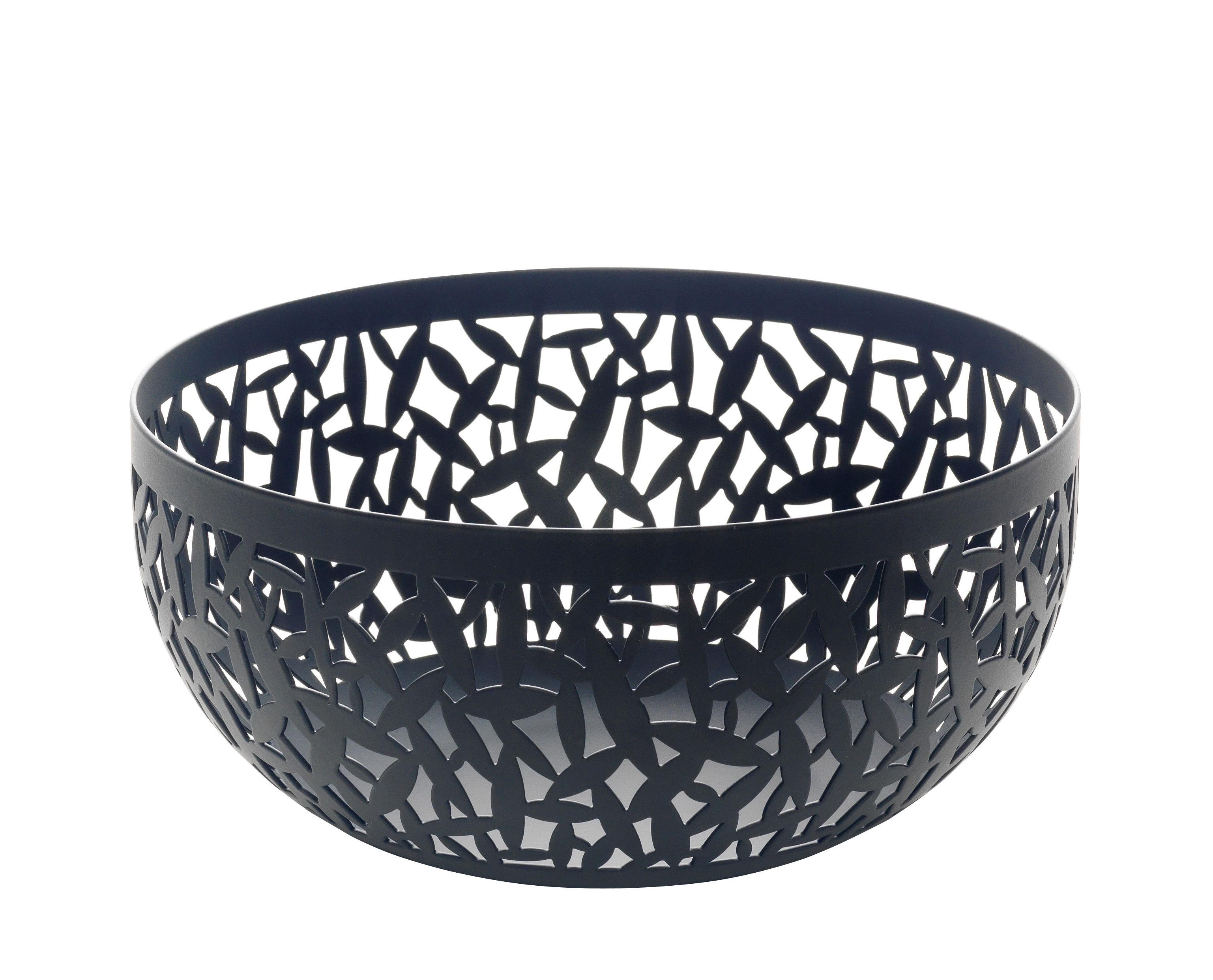 Tableware - Fruit Bowls & Centrepieces - Cactus! Basket - Ø 21 cm by Alessi - Ø 21 cm - Black - Stainless steel epoxy coloration resin