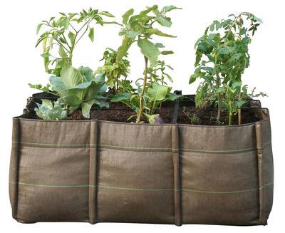 Outdoor - Töpfe und Pflanzen - BacLong 3 Geotextile Blumenkasten 3 Kammern - 110 L - Bacsac - 3 Kammern - 110 L - braun - Geotextil-Gewebe
