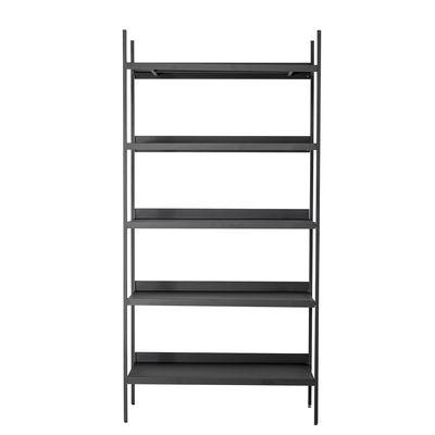 Möbel - Regale und Bücherregale - Lot Bücherregal / Metall - L 100 x H 200 cm / 6 Regalbretter - Bloomingville - Schwarz - Eisen, epoxidlackiert