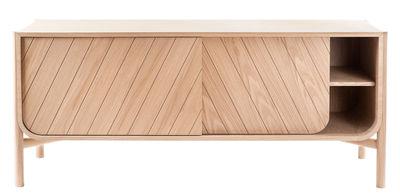 Mobilier - Commodes, buffets & armoires - Buffet Marius / Meuble TV - L 155 x H 65 cm - Hartô - Chêne naturel - Chêne massif, MDF plaqué chêne