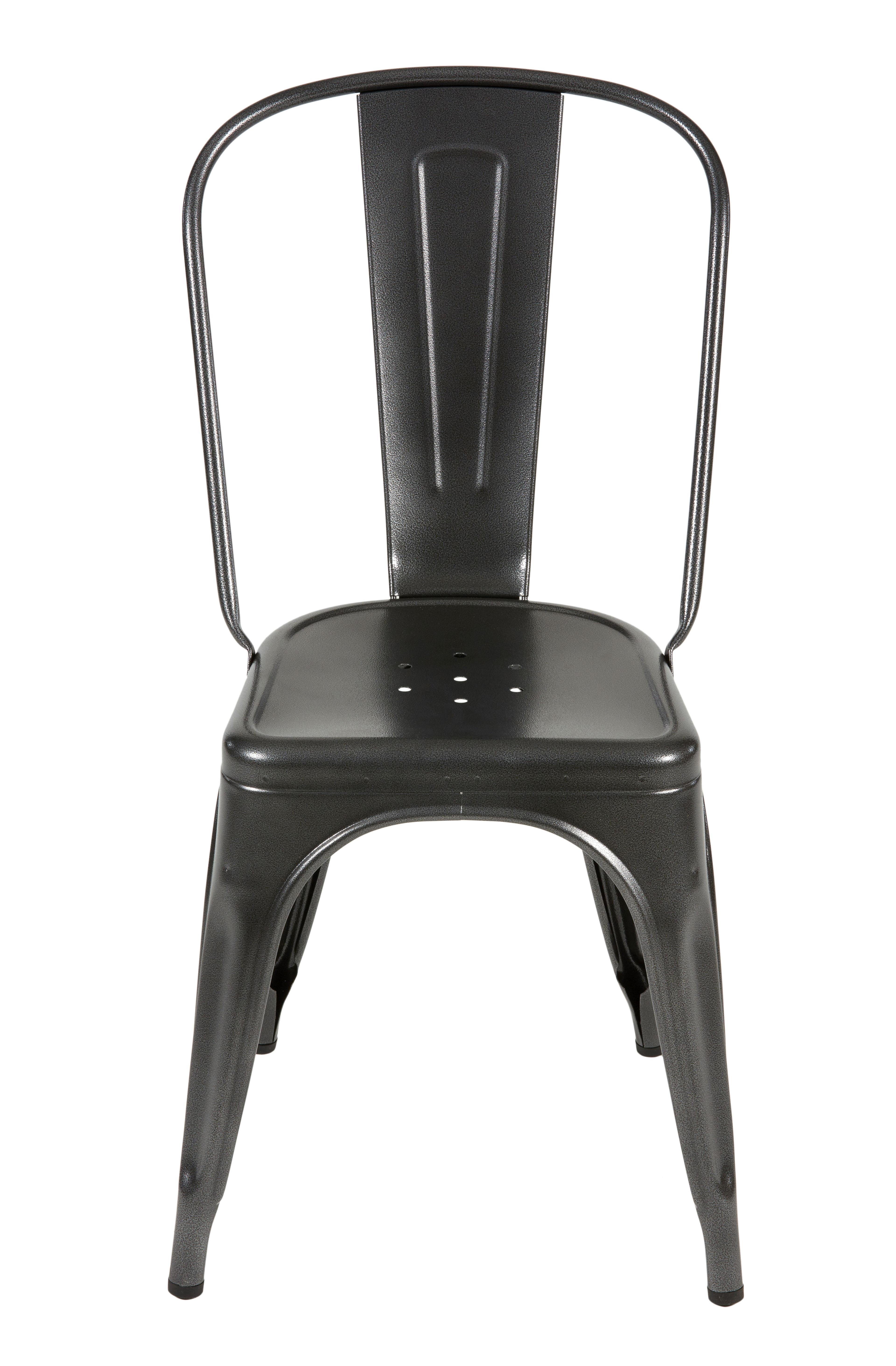 Mobilier - Chaises, fauteuils de salle à manger - Chaise empilable A / Acier - Couleur mate texturée - Tolix - Gris martelé (mat grainé) - Acier recyclé laqué