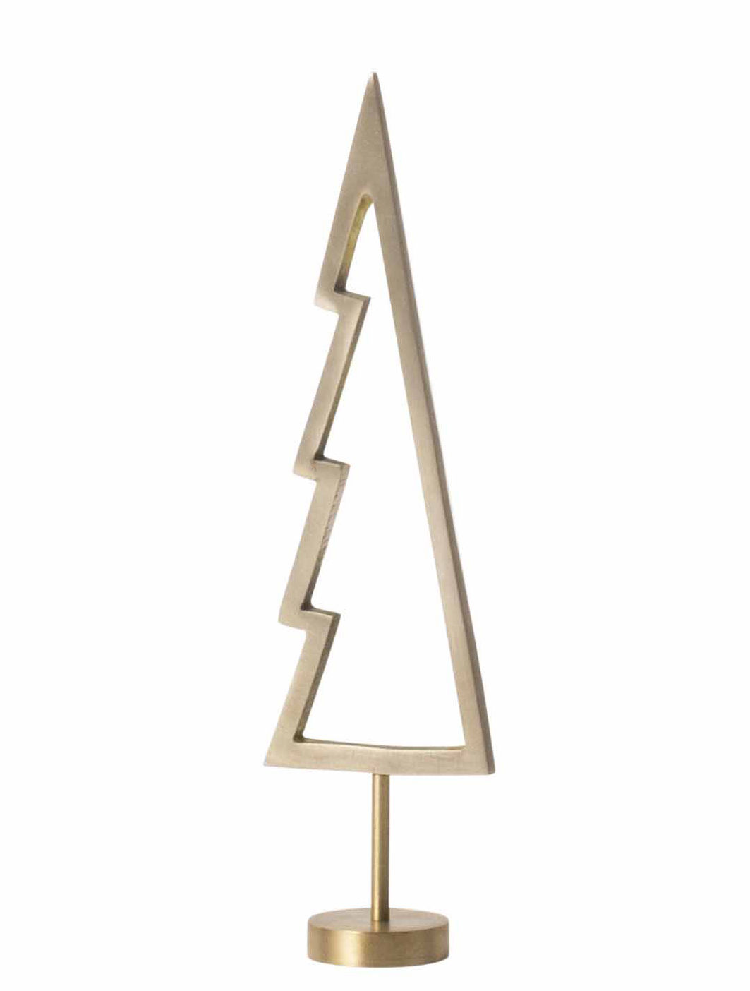 Decoration - Home Accessories - Tree Outline Christmas decoration - / Brass - H 18 cm by Ferm Living - Outline / Brass - Solid brass