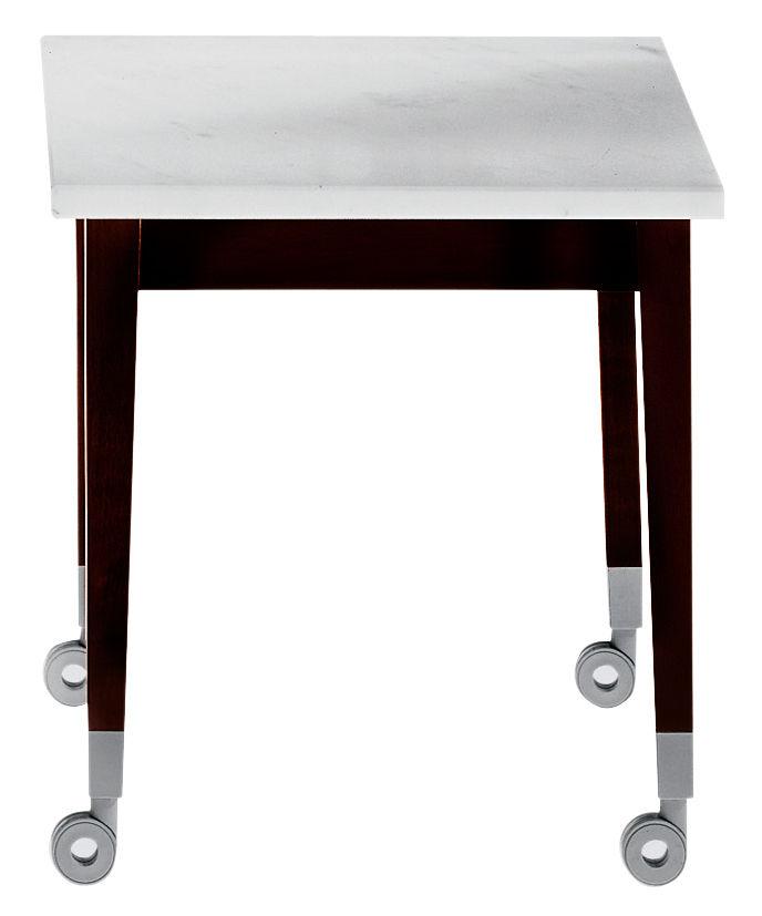 Furniture - Coffee Tables - Neoz Coffee table by Driade - Ebony/ marble - Mahogany, Marble
