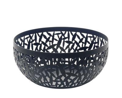 Arts de la table - Corbeilles, centres de table - Corbeille Cactus! / Ø 21 cm - Alessi - Noir - Acier inoxydable avec coloration résine époxy