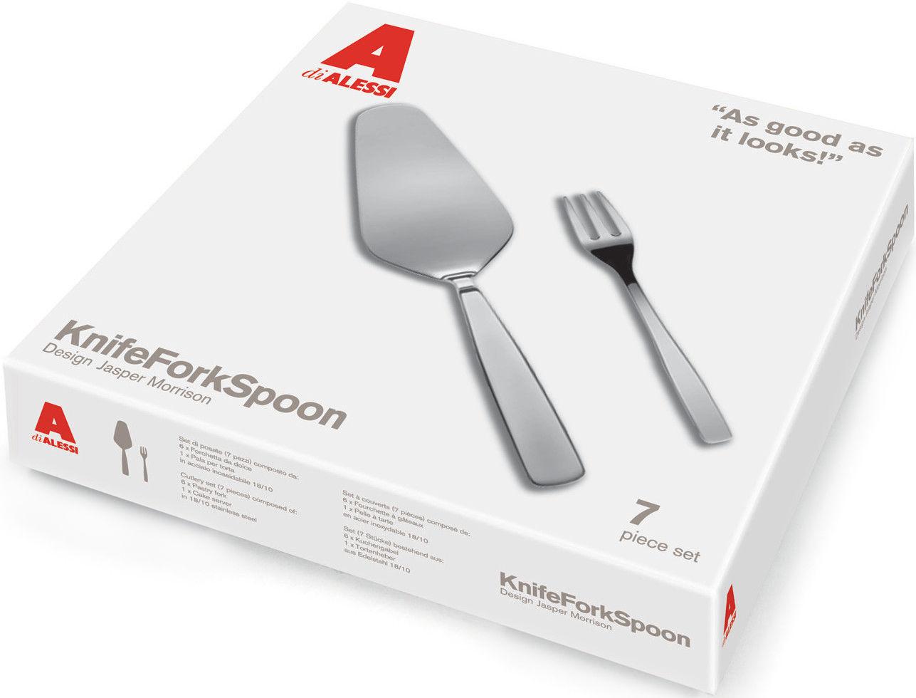 Tableware - Cutlery - KnifeForkSpoon Cutlery set by A di Alessi - Steel - Stainless steel