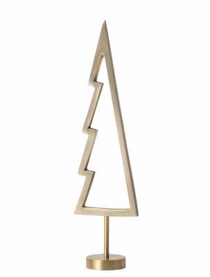 Déco - Objets déco et cadres-photos - Décoration de Noël Tree Outline / Sapin en laiton - H 18 cm - Ferm Living - Laiton - Laiton massif