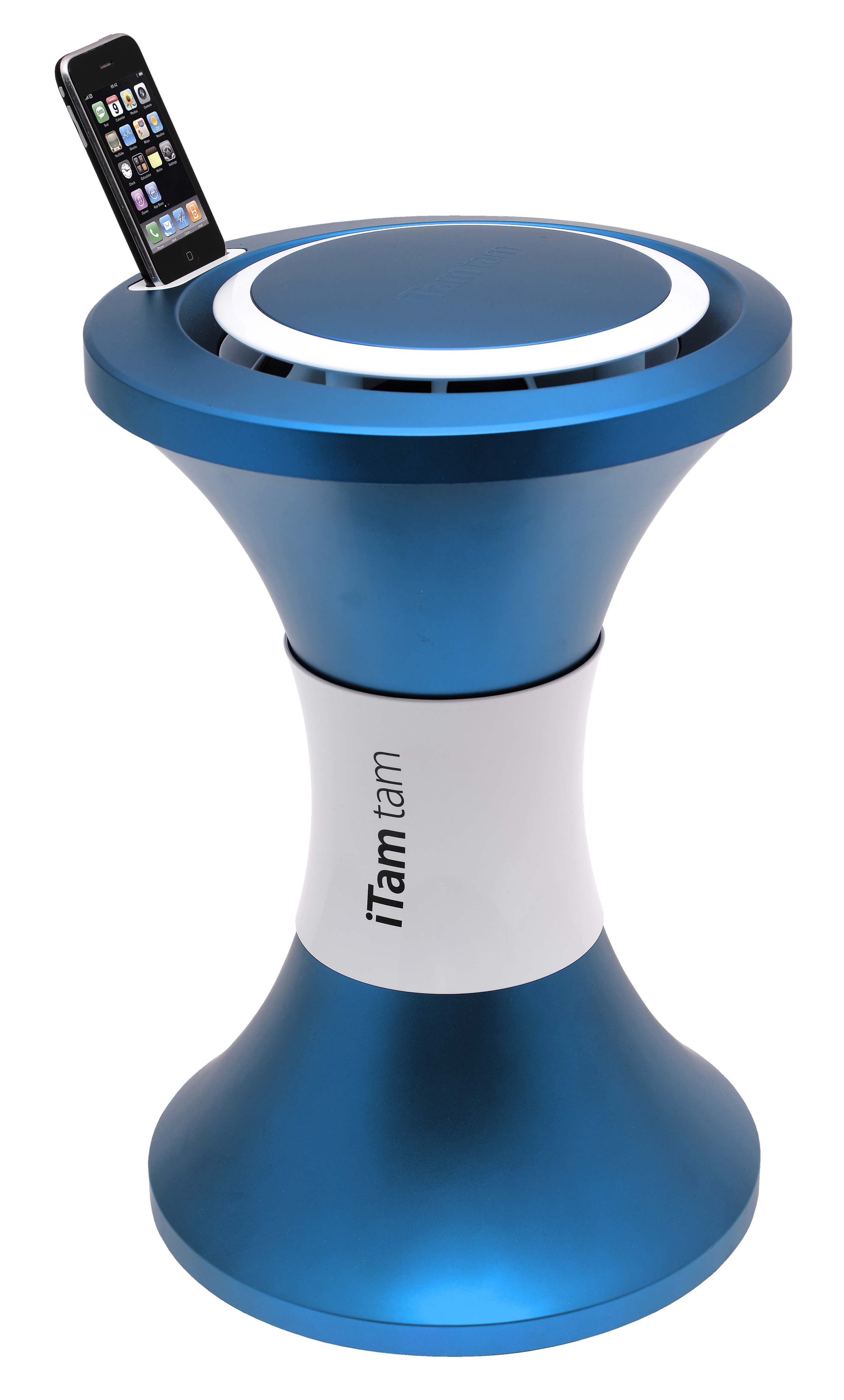 Furniture - Teen furniture - iTamtam Vogue Dock ipod/iphone - / portable iPod dock by Stamp Edition - Blue - Metallic ABS