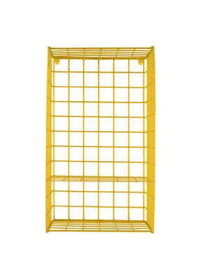 Mobilier - Etagères & bibliothèques - Etagère Wire Vertical / à poser ou suspendre - L 30 x H 66 cm - Houtique - Jaune - Acier laqué