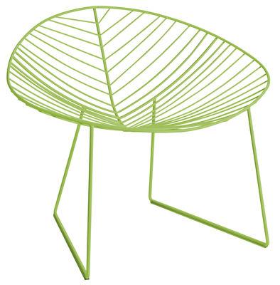 Mobilier - Fauteuils - Fauteuil Leaf / Métal - Arper - Vert - Acier laqué