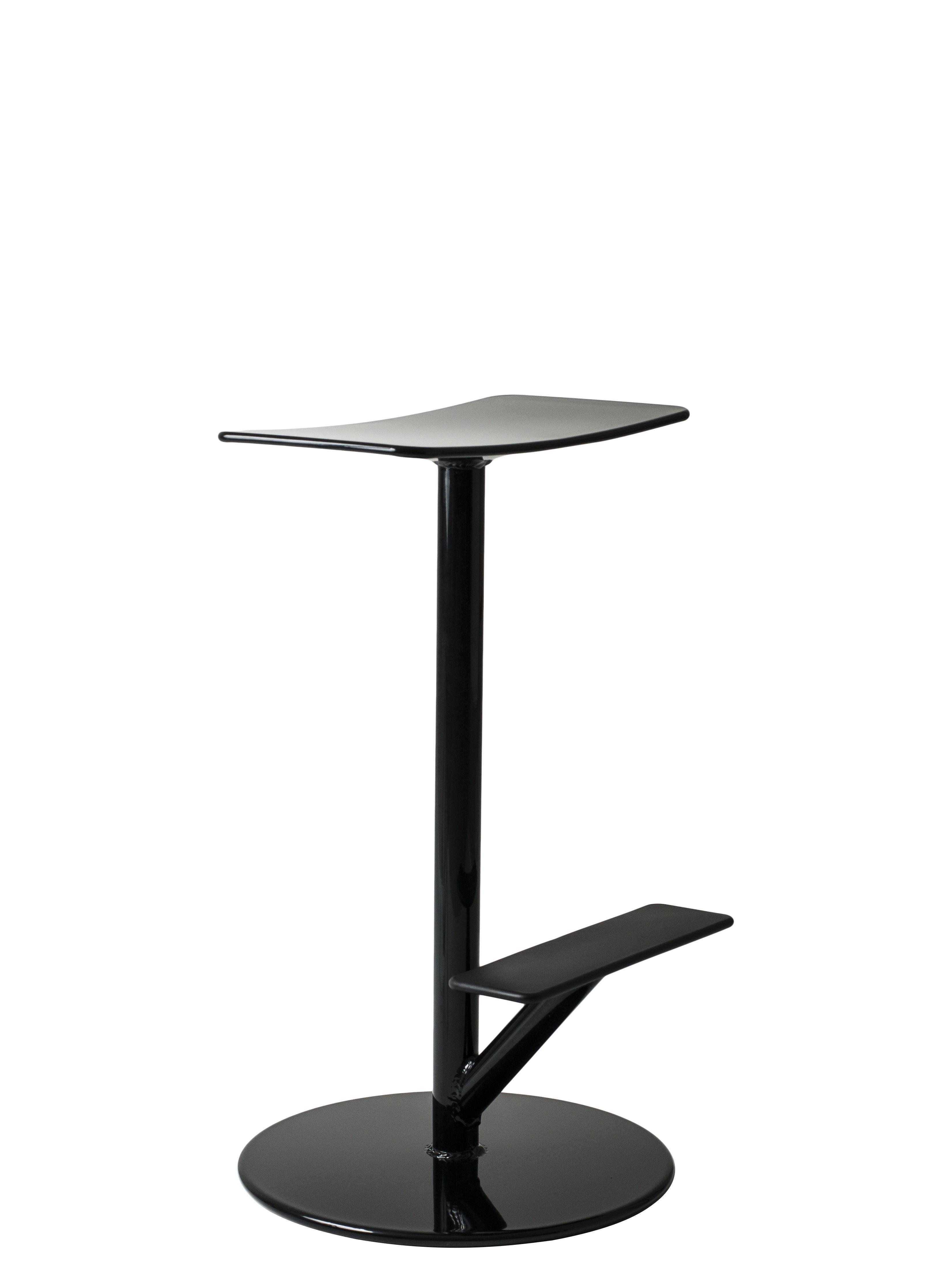 Furniture - Bar Stools - Sequoia High stool - / Metal - H 65 cm by Magis - Black - Steel