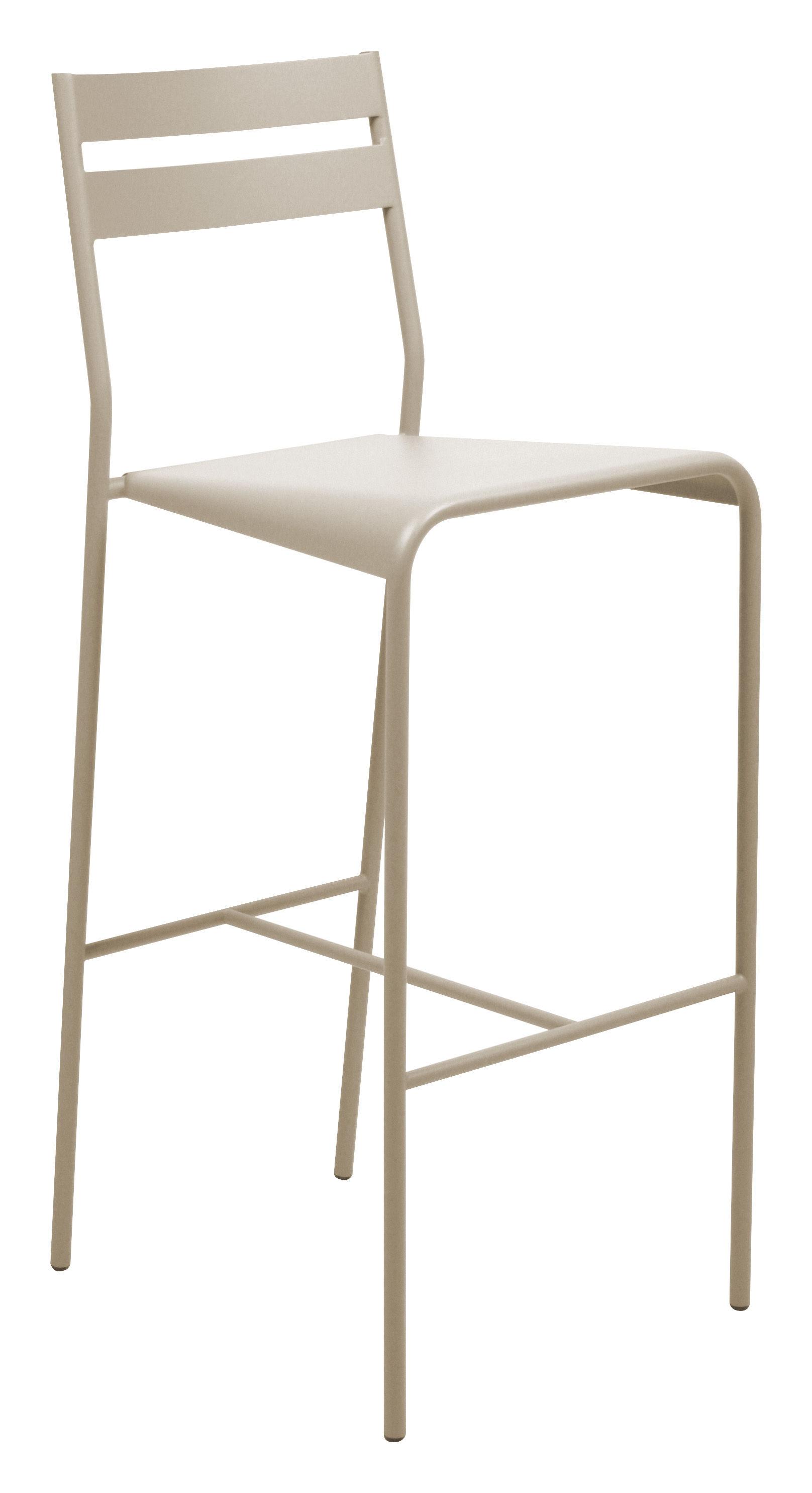 Möbel - Barhocker - Facto Hochstuhl - Fermob - Muskat - lackierter Stahl