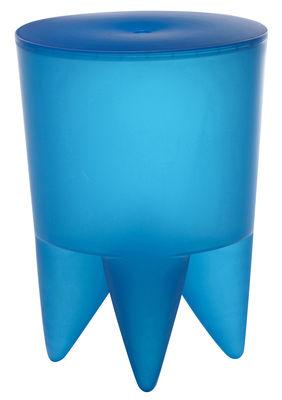 Möbel - Möbel für Teens - New Bubu 1er Hocker / Truhe - aus Kunststoff - XO - Azurblau, lichtdurchlässig - Polypropylen