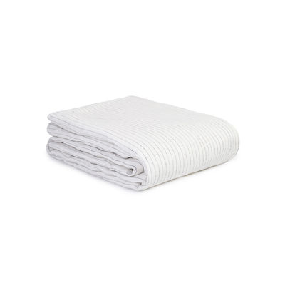 Decoration - Bedding & Bath Towels - duvet cover 200 x 200 cm - / 200 x 200 cm - Washed linen by Au Printemps Paris - Striped ecru - washed linen