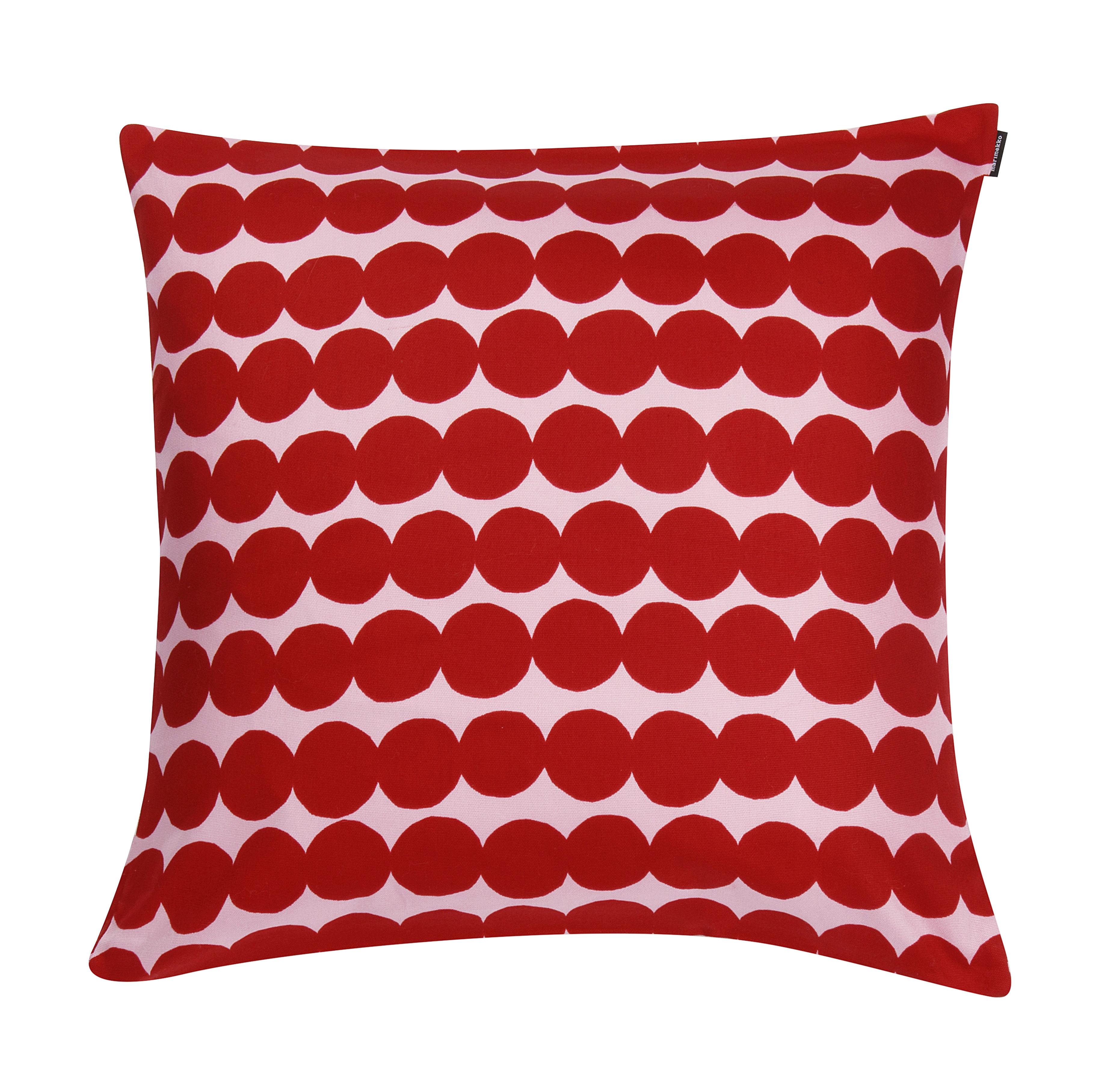 Déco - Coussins - Housse de coussin Räsymatto / 50 x 50 cm - Marimekko - Räsymatto / Rose & rouge - Coton