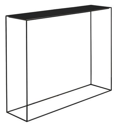 Möbel - Konsole - Slim Irony Konsole / L 124 cm - Zeus - Ablageplatte rostfarben / Gestell schwarzbraun - bemalter Stahl
