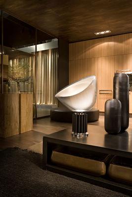 Lampada Da Tavolo Taccia Led Di Flos Nero Trasparente Made In Design
