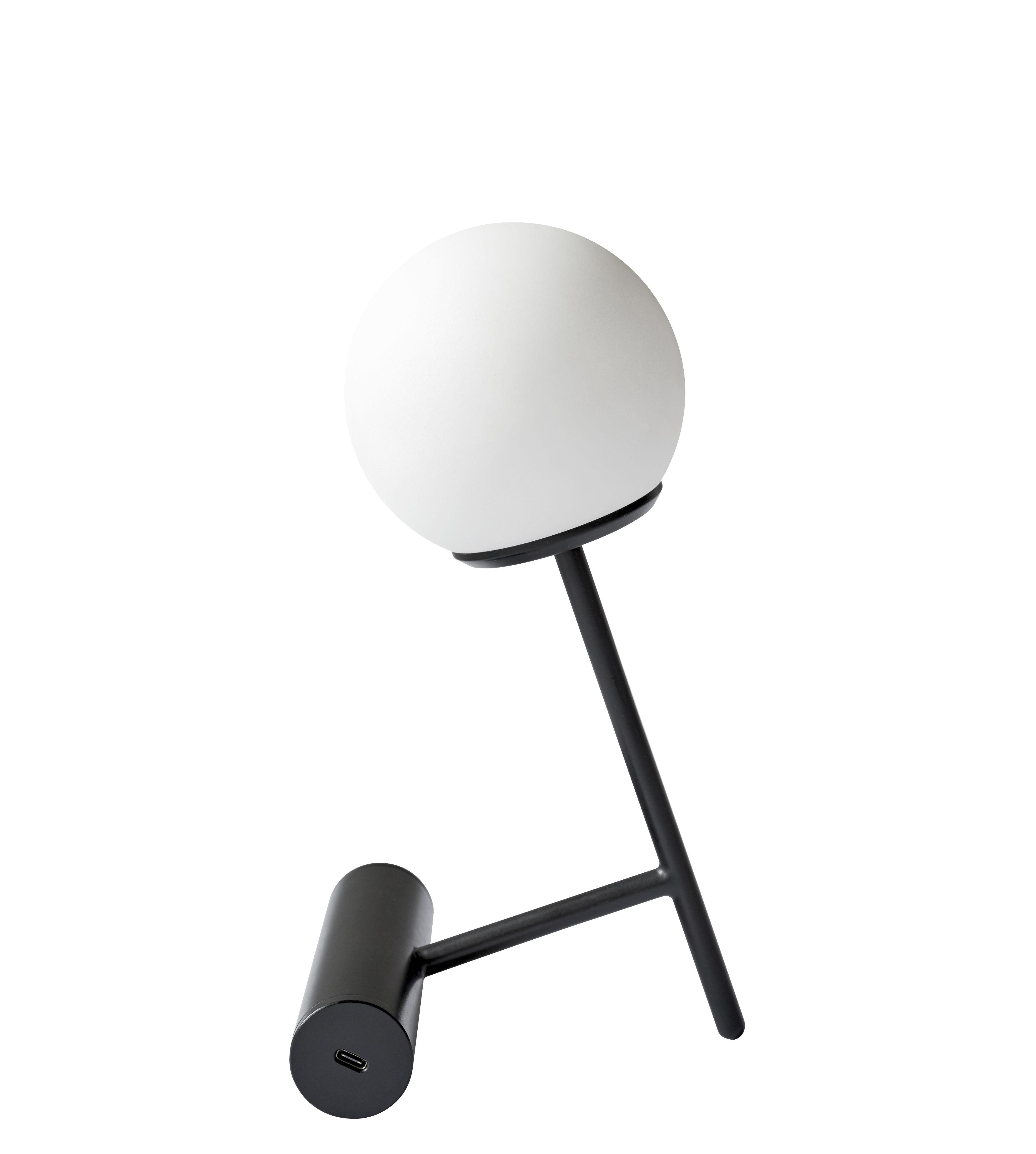 Illuminazione - Lampade da tavolo - Lampada senza fili Phare LED - / Ricarica USB - Metallo & plastica di Menu - Nero - alluminio verniciato, policarbonato