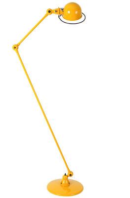 Lampadaire Loft / 2 bras articulés - H max 160 cm - Jieldé moutarde brillant en métal