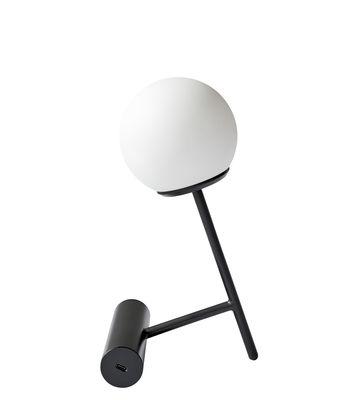 Luminaire - Lampes de table - Lampe sans fil Phare LED / Recharge USB - Métal & plastique - Menu - Noir - Aluminium peint, Polycarbonate