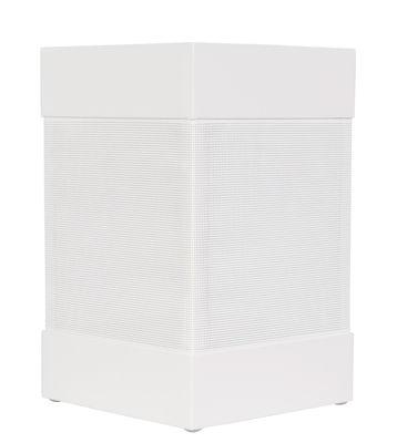Lampe solaire La Lampe Pose 03 / LED - Hybride & connectée - Maiori blanc en métal/tissu