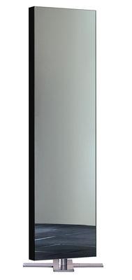 Miroir sur pied Giano / à poser au sol - L 50 x H 180 cm - Glas Italia noir laqué en métal