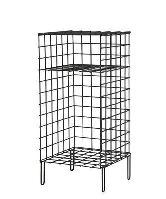 Wire One Nachttisch / Nachttisch - L 30 cm x H 66 cm - Houtique - Schwarz