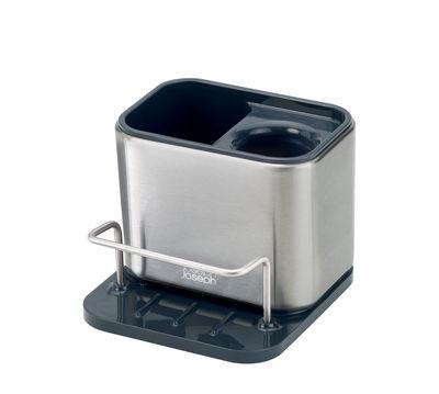 Cuisine - Vaisselle et nettoyage - Organiseur d'évier Surface Small / Acier - L 13 cm - Joseph Joseph - Small / Acier & noir - Acier inoxydable, Matière plastique