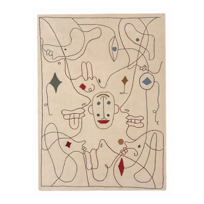 Decoration - Rugs - Silhouette Outdoor Outdoor rug - / By Jaime Hayon - 200 x 300 cm / Recycled PET fibre by Nanimarquina - 200 x 300 cm / Beige & multicoloured - Recycled PET fibre