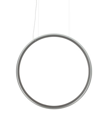 Lighting - Pendant Lighting - Discovery Vertical LED Pendant - / Ø 100 cm by Artemide - Transparent / Ø 100 cm - Aluminium, Technopolymer