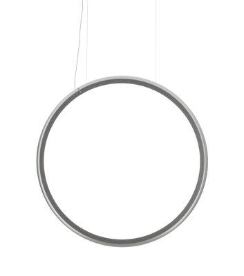 Leuchten - Pendelleuchten - Discovery Vertical LED Pendelleuchte / Ø 100 cm - Artemide - Transparent / Ø 100 cm - Aluminium, Technoplymer