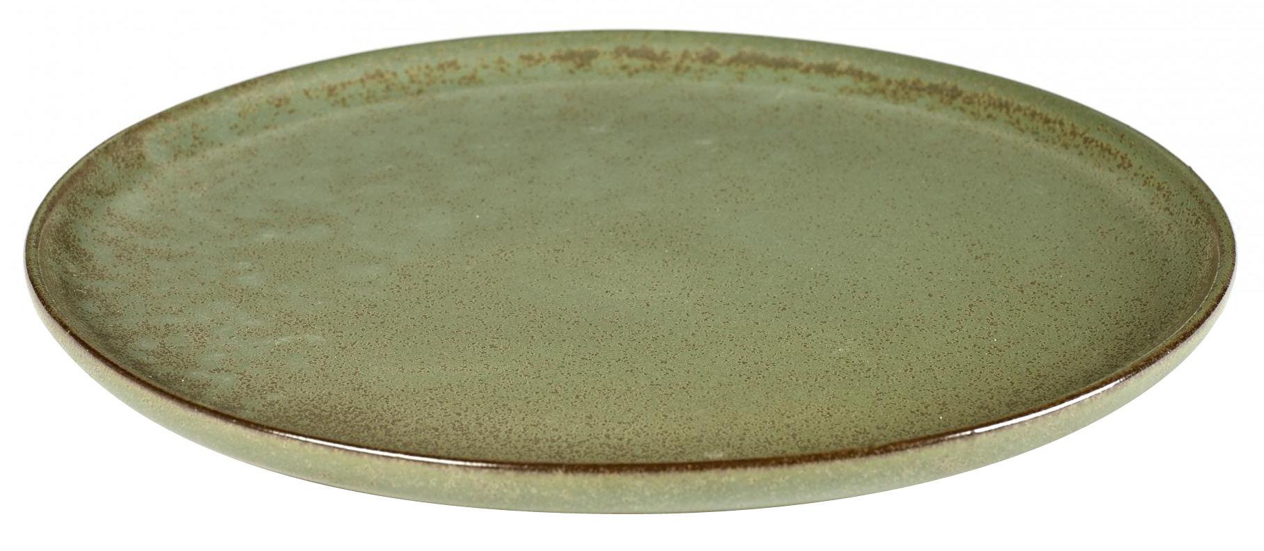 Tavola - Piatti  - Piatto piano Surface / Ø 27 cm - By Sergio Herman - Serax - Verde Camo green - Ceramica smaltata