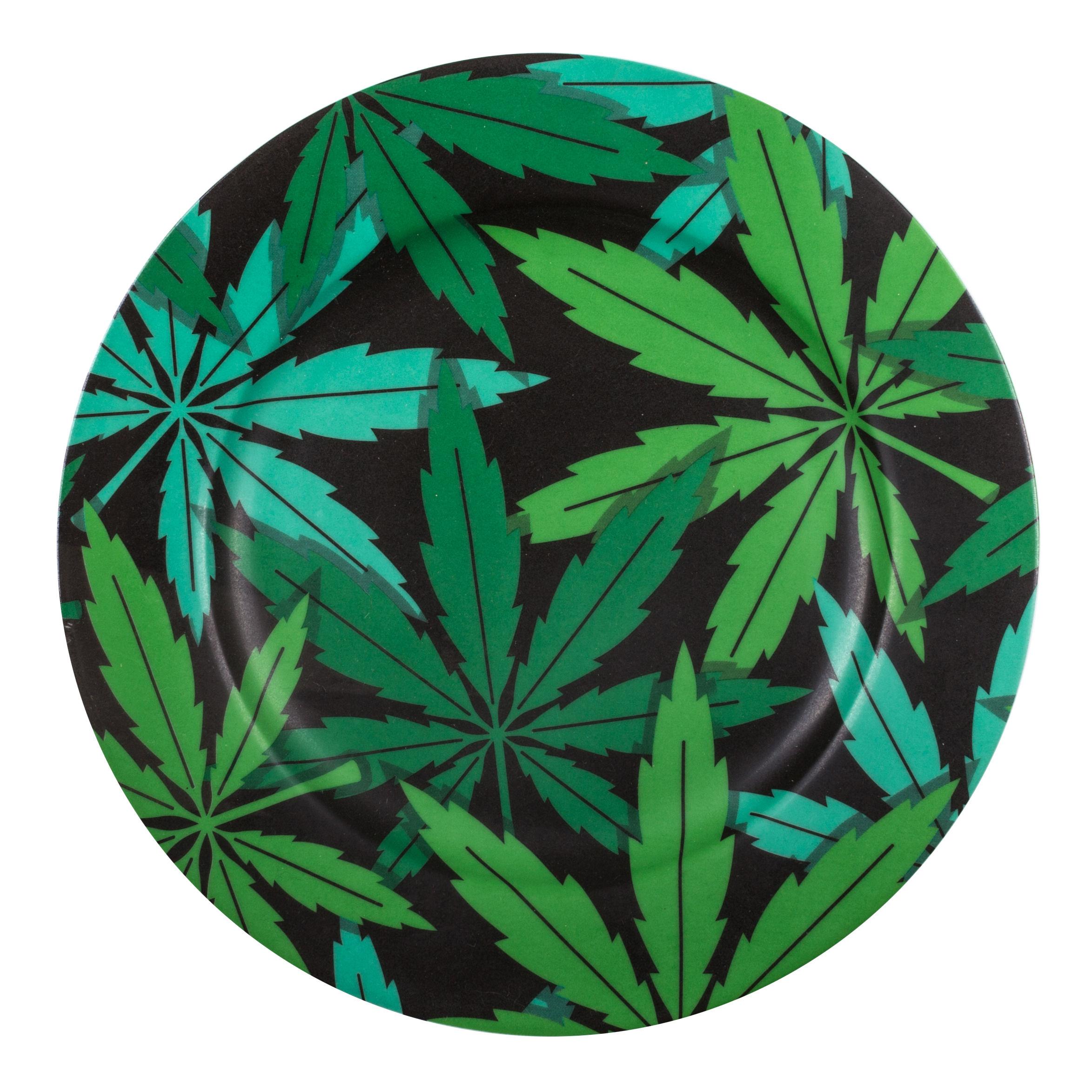 Tavola - Piatti  - Piatto Weed - / Porcellana - Ø 27 cm di Seletti - Canapa - Porcellana