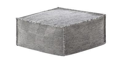 Furniture - Poufs & Floor Cushions - Sail Pouf - / 75 x 75 cm - H 35 cm - Square by Gan - Black - Mousse caoutchouc, Polystyrene balls, Virgin wool