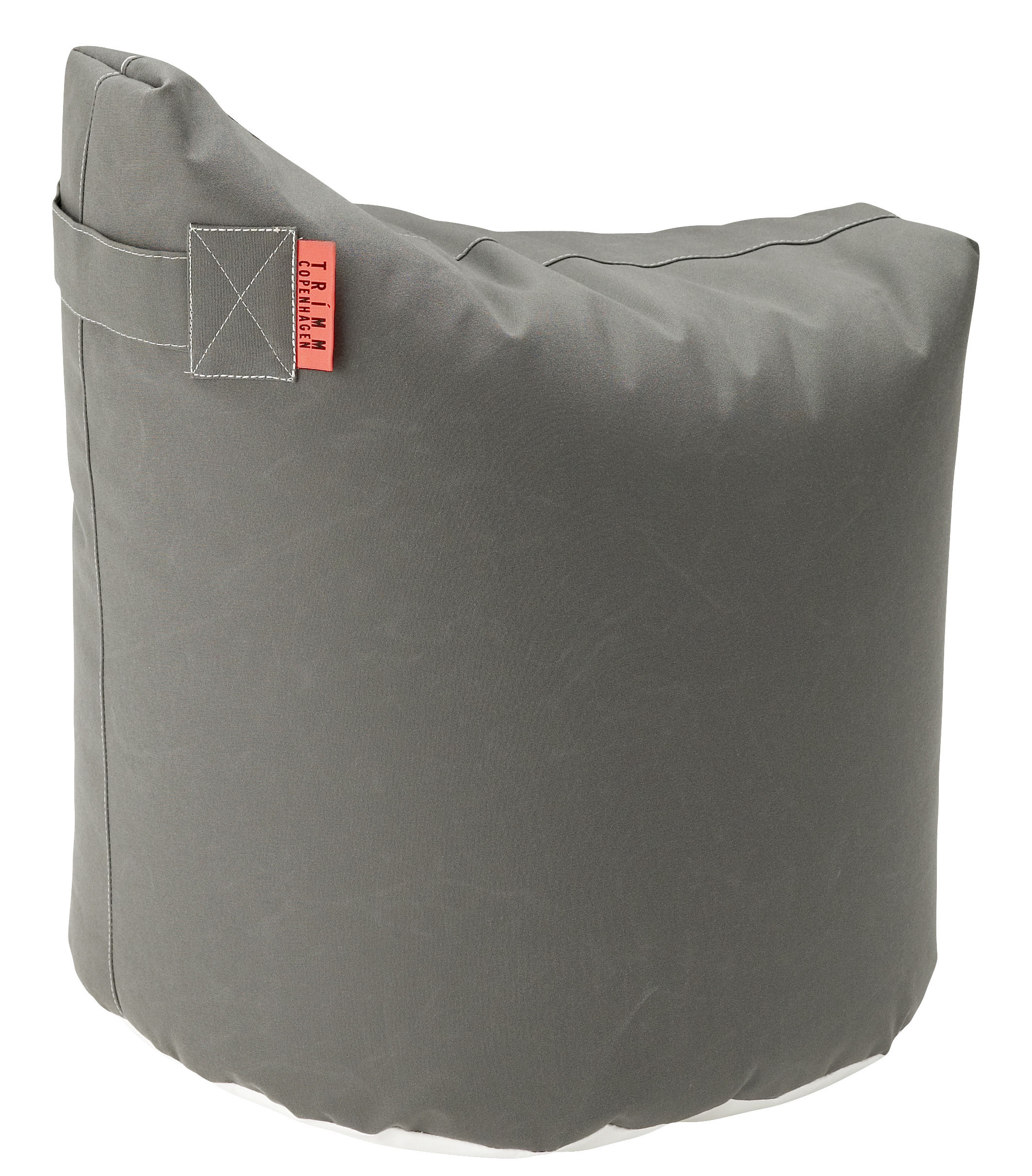 Furniture - Poufs & Floor Cushions - Satellite Small Pouf - H 48 cm by Trimm Copenhagen - Grey -  Microbilles EPS, Sunbrella canvas