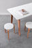 New Modern Rectangular table - / 160 x 95 cm - Recycled plastic / 6 to 8 people by TIPTOE
