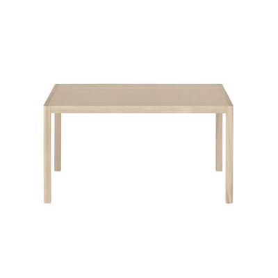 Furniture - Office Furniture - Workshop Rectangular table - / Oak veneer - 140 x 92 cm by Muuto - Oak veneer / Oak legs - Oak veneer, Solid oak