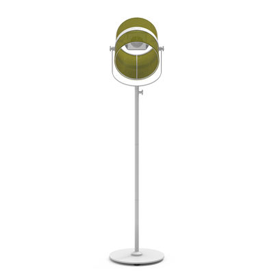 Lighting - Floor lamps - La Lampe Paris LED Solar floorlamp - / Solar by Maiori - Structure : White - Diffuser : Kaki - Fabric, Painted aluminium