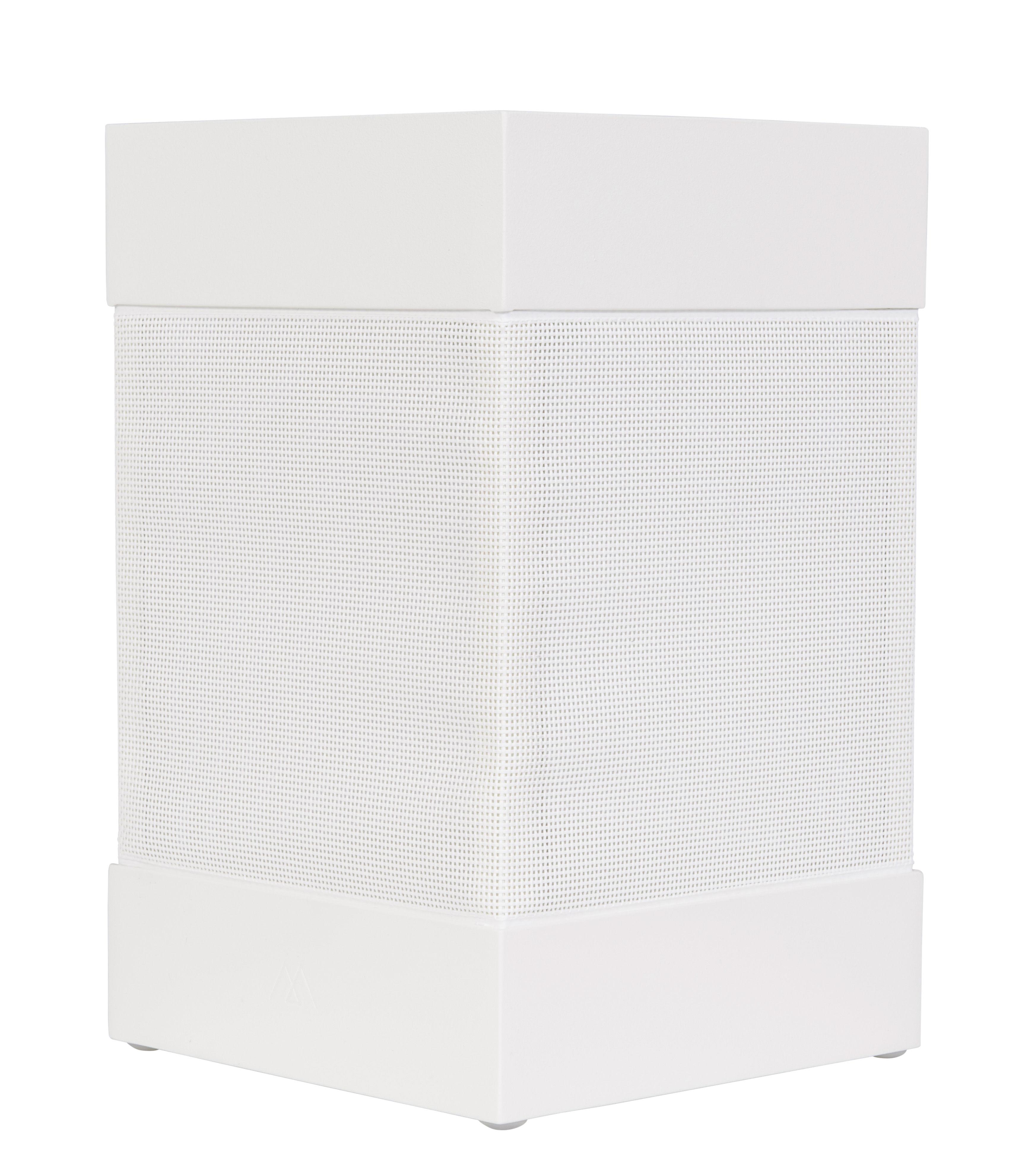 Lighting - Table Lamps - La Lampe Pose 03 Solar lamp by Maiori - White - Aluminium, Technical fabric