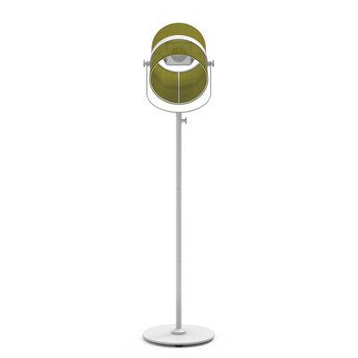 Leuchten - Stehleuchten - La Lampe Paris LED Solarleuchte / kabellos - Maiori - Khaki  / Ständer weiß - bemaltes Aluminium, Gewebe