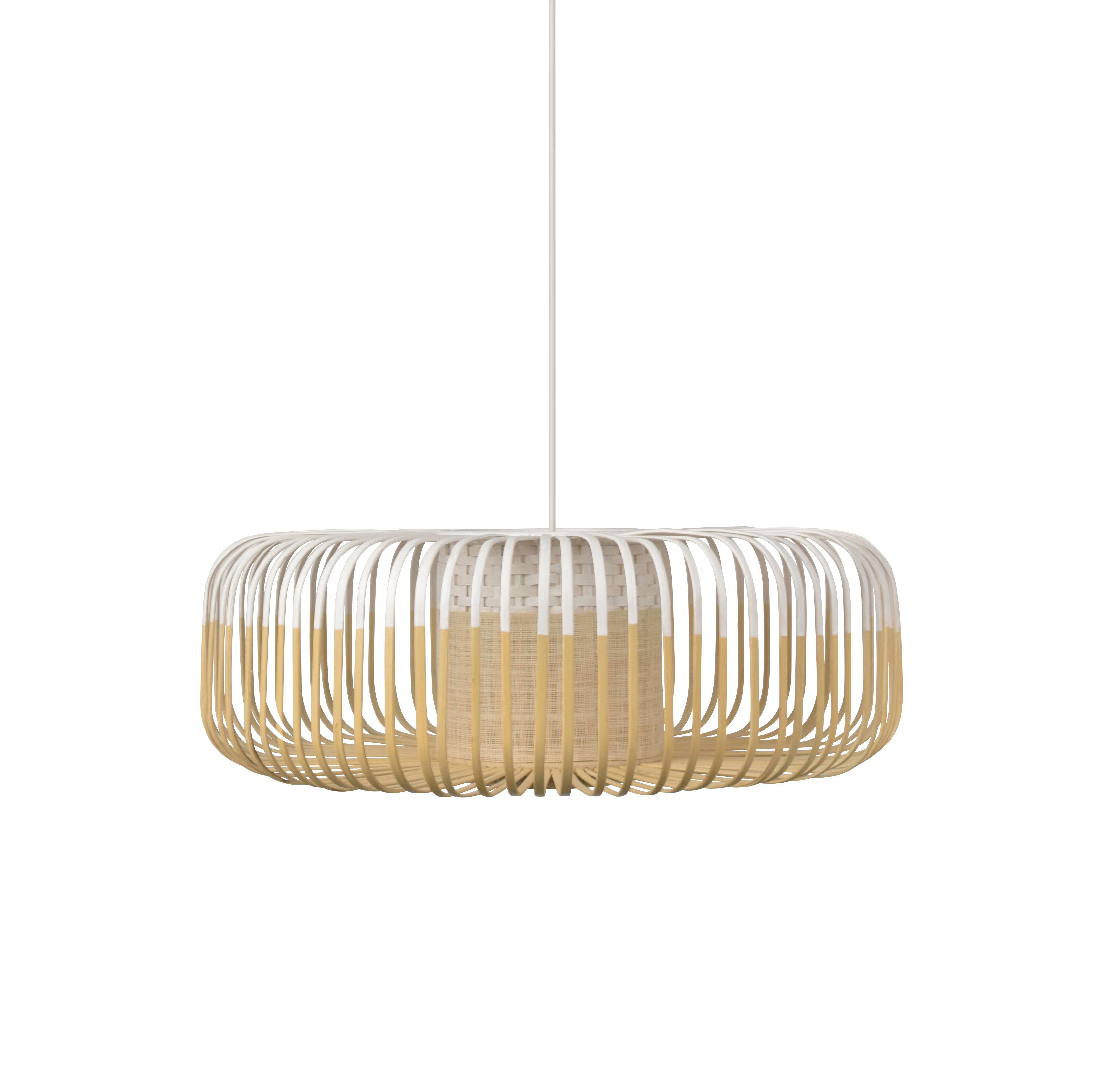 Illuminazione - Lampadari - Sospensione Bamboo XL - / Ø 60 cm di Forestier - Bianco - Bambù