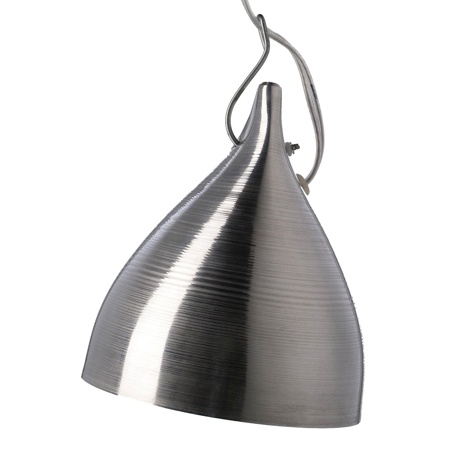 Illuminazione - Lampadari - Sospensione Cornette - versione tinta unita - Ø 15 x H 18 cm di Tsé-Tsé - Alluminio - Alluminio anodizzato