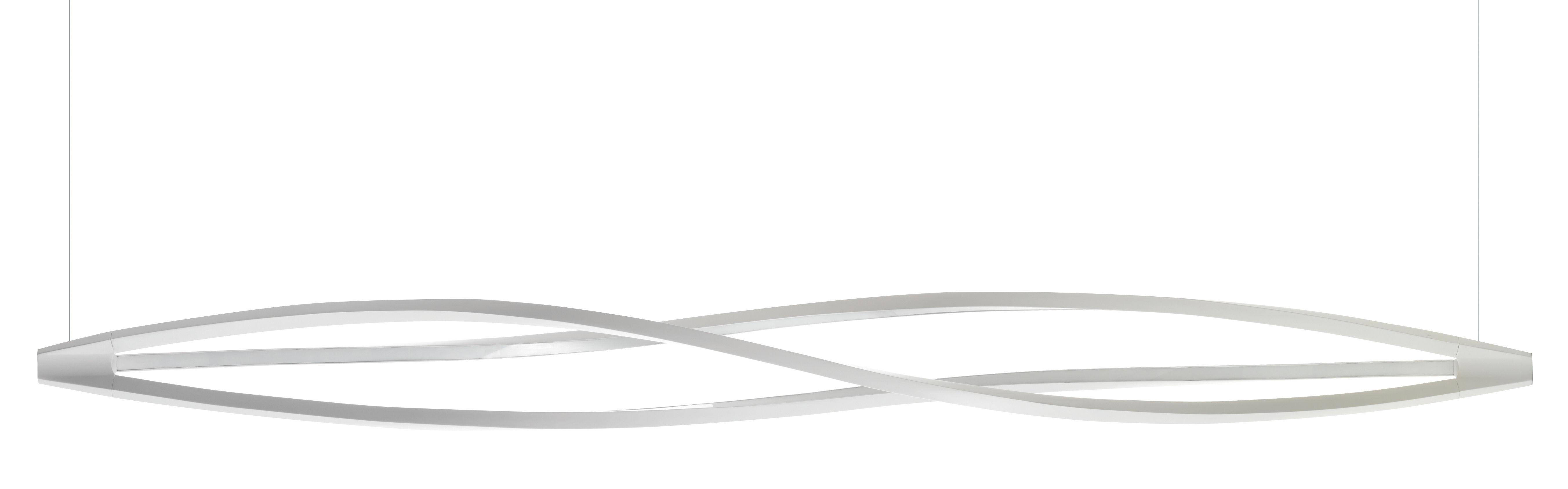 Illuminazione - Lampadari - Sospensione In the wind - LED / Orizzontale - L 183 cm di Nemo - Orizzontale - Bianco - alluminio estruso, Metacrilato